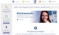Homepage Zahnärztezentrum Berlin